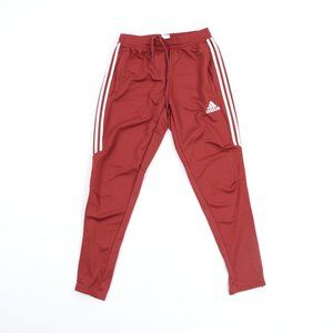Men's Adidas Joggers Three Stripped Med ~ Rust Red